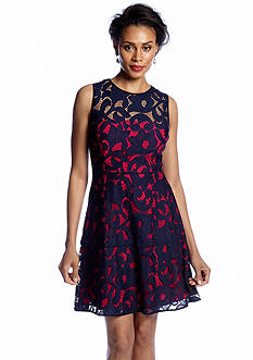 Donna Morgan Sleeveless Fit and Flare Dress