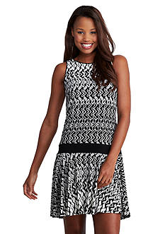 Donna Morgan Sleeveless Drop Waist Dress