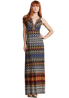 Donna Morgan Sleeveless Printed Maxi Dress
