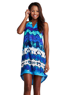 Donna Morgan Sleeveless Printed High-Low Hem Dress