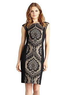 Donna Morgan Printed Body-con Sheath Dress