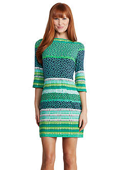 Donna Morgan Three Quarter Sleeve Shift Dress