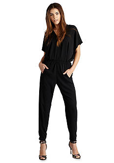 Donna Morgan Draped Jumpsuit