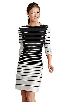 Donna Morgan Striped Sheath Dress