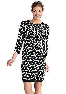 Donna Morgan Printed Shift Dress