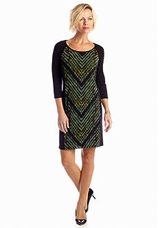 Ronni Nicole Printed Sheath Dress