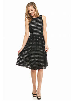 Ronni Nicole Lace Fit and Flare Dress