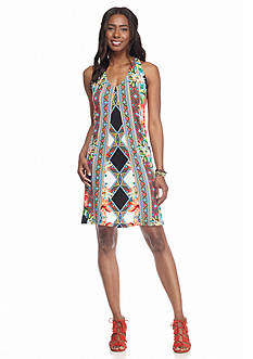 Ronni Nicole Printed Halter Dress