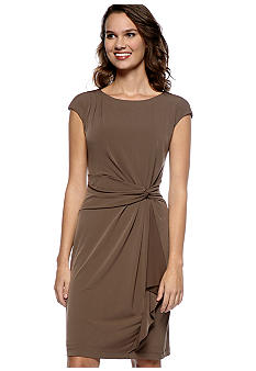 Ronni Nicole Cap Sleeved Draped Dress