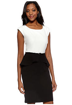 Ronni Nicole Colorblock Peplum Dress