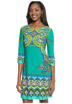 Ronni Nicole Mirror Print Shift Dress