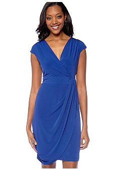 Ronni Nicole Draped Matte Jersey Dress