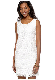 Ronni Nicole Sleeveless Floral Embroidered Sheath Dress