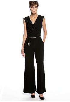 Ronni Nicole Sleeveless Cowl Neck Jumpsuit