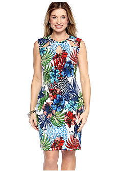 Ronni Nicole Sleeveless Floral Print Shift Dress