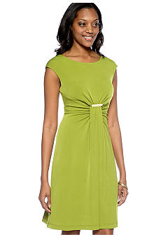 Ronni Nicole Cap-Sleeved Empire Waist Dress