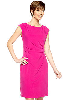 Ronni Nicole Cap-Sleeved Sheath Dress
