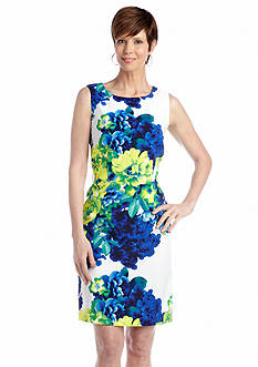 Ronni Nicole Sleeveless Printed Sheath Dress