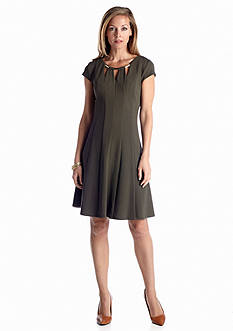 Ronni Nicole Textured Knit Fit and Flare Dress