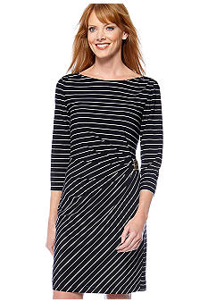 Tahari ASL Nautical Stripe Dress