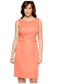 Tahari ASL Sleeveless Jacquard Sheath Dress