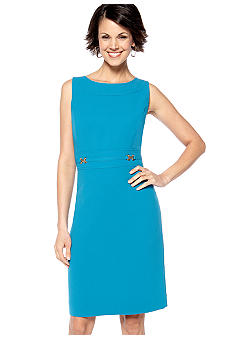 Tahari ASL Sleeveless Crepe Sheath Dress