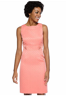 Tahari ASL Petite Sleeveless Jacquard Sheath Dress