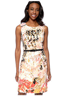 Tahari ASL Petite Printed Sheath Dress