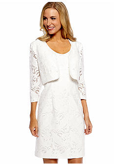 Tahari ASL Three-Quarter Sleeved Jacket Dress