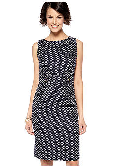 Tahari ASL Sleeveless Printed Sheath Dress