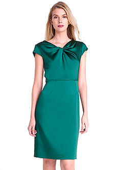 Tahari ASL Cap Sleeve Sheath Dress