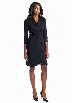 Tahari ASL Wrap Coat Dress