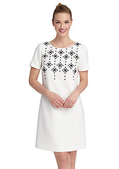 Tahari ASL Beaded Sheath Dress