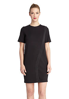 Tahari ASL Short Sleeve Shift Dress
