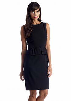 Tahari ASL Sleeveless Peplum Sheath Dress