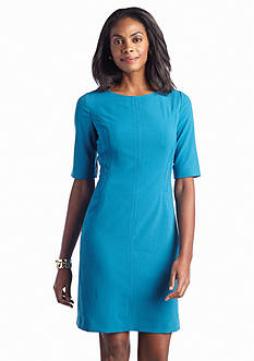 Tahari ASL Elbow-Sleeve Sheath dress