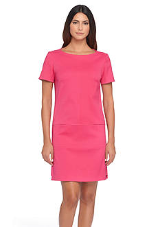 Tahari ASL Basket Weave Drop-Waist Dress