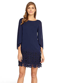 Tahari ASL Split-Sleeve Shift Dress
