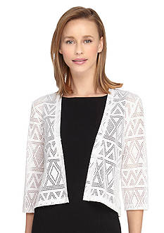 Tahari ASL Three-Quarter Sleeve Shrug