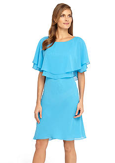 Tahari ASL Chiffon Popover Dress