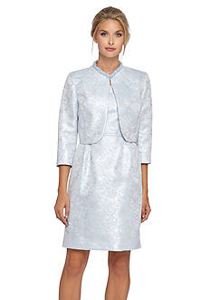 Tahari ASL Jacquard Jacket Dress