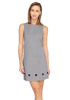 Tahari ASL Gingham Printed Sheath Dress
