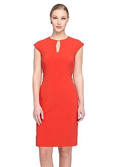 Tahari ASL Keyhole Neckline Sheath Dress