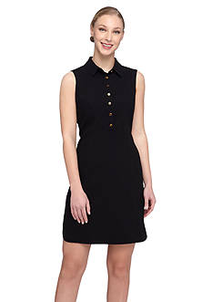 Tahari ASL Sleeveless Shirt Dress