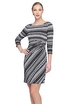 Tahari ASL Printed Jersey Sheath Dress