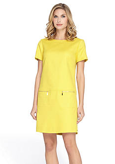 Tahari ASL Basket Weave Shift Dress