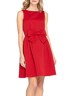 Tahari ASL Bow-waist Fit and Flare Dress