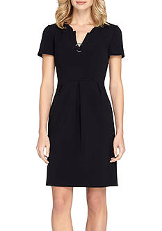 Tahari ASL Double Woven A-line Dress