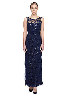 Tahari ASL Lace and Sequin Gown