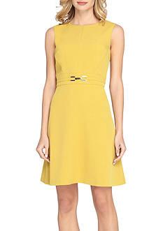 Tahari ASL Sleeveless Belted A-line Dress